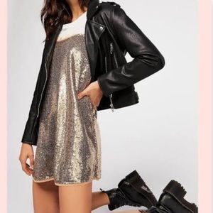 NWT FREE PEOPLE TIME TO SHINE SEQUINED TUNIC
